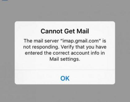 Imap.google.com Not responding Issue
